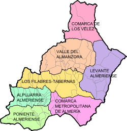 Provincia De Almeria Mapa.Provincia De Almeria