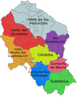 Mapa Provincia De Cordoba España.Provincia De Cordoba