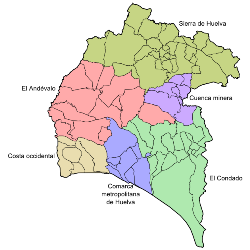 Pueblos De Huelva Mapa.Provincia De Huelva