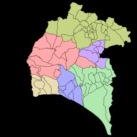 Mapa De Huelva Costa.Provincia De Huelva