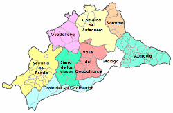 Mapa Provincia De Malaga Pueblos.Provincia De Malaga