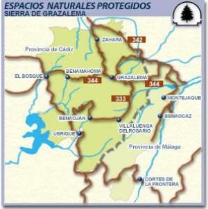Sierra De Grazalema Mapa.Parque Natural Sierra De Grazalema